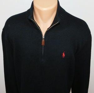 Polo Ralph Lauren 1/4 zip pullover sweater.  L